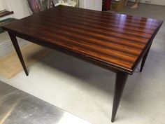 """Rare Solid Rosewood Niels Otto Moller """"Model 12"""" Dining Table Pull-Out Leaves"""