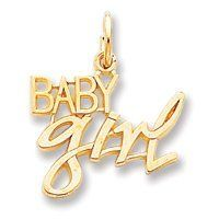 14k Baby Girl Charm - Measures 21.4x17.7mm - JewelryWeb Presents For Girls, Girls Necklaces, Spice Girls, Gold Necklace, Charmed, Baby, Jewelry, Gold Pendant Necklace, Jewlery