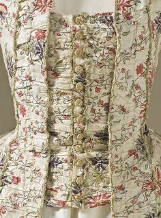 Detail, Women's Robe a la Francaise, France, c 1770. LACMA Collections Online