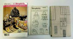 Simplicity 4542 Knitting & Crochet Organizers 5 Varieties Uncut 2005 #SImplicity
