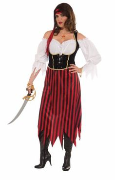 Forum PlusSize Big Fun Pirate Maiden Costume Multi Plus Size *** Learn more by visiting the image link.