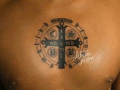 Love this simple St. Dope Tattoos, Key Tattoos, Body Art Tattoos, Tatoos, Maori Tattoo Designs, Angel Tattoo Designs, Lion Tattoo, Arm Tattoo, Catholic Tattoos