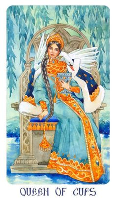 Card of the Day – Queen of Cups – Sunday, July 8, 2018 « Tarot by Cecelia