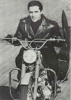 A great poster of Elvis Presley on a motorcycle! From the classic 1964 movie Roustabout. Black leather suits him nicely! Ships fast. 27x39 inches. Check out the rest of our awesome selection of Elvis