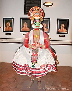 A Sculpture Representing A Kathakali Dance In A Museum In Kochi - Download From Over 44 Million High Quality Stock Photos, Images, Vectors. Sign up for FREE today. Image: 72999530