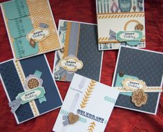 Sarita Card Kit. Stamp Sets: Holiday Tags D1560 Geometric Backgrounds D1559 One Way Borders C1561 Card Chatter – Birthday D1475 (optional)-- Click to see more....>