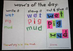 Great word work center activity