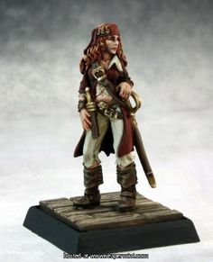 Pathfinder Miniatures (Kassata Lewynn Need Pathfinder Miniatures? We have a great selection of RPG minis. Long John Silver, Reaper Miniatures, Fantasy Miniatures, 28mm Miniatures, Warhammer Paint, Sci Fi Models, Pirate Woman, Lady Pirate, Pathfinder Rpg
