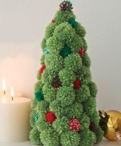 HOME DZINE Craft Ideas | Fun with pom-poms. Make a cute and cuddly pom-pom Christmas tree for the festive season.