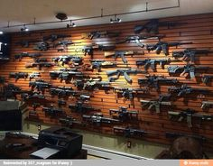 Just one wall of my future house lol Ammo Storage, Weapon Storage, Gun Closet, Gun Safe Room, Gun Vault, Gun Rooms, Home Defense, Cool Guns, Guns And Ammo