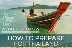 How to Prepare for Thailand? An easy and thorough prep list