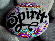 spirit / painted stones/ painted rocks / art on stone / inspiration / guidance / faith / inner wisdom / intuition/ beach stones / cape cod by LoveFromCapeCod on Etsy