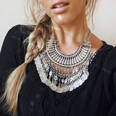 Mystery Ancient Coins Bib Necklace