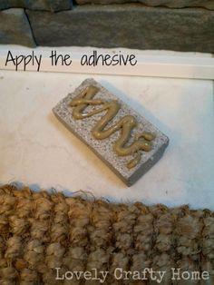 applying adhesive to airstone