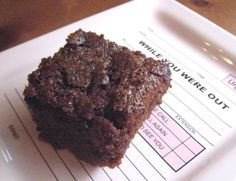 """Chocolate Mochi Brownies. The rice flour adds a little more """"chew"""" and density to the brownie. Yum!"""