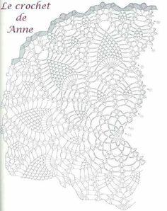 Gorgeous Crochet Shawl of the pineapple point - Grafico. Crochet Shawl Diagram, Crochet Doily Patterns, Thread Crochet, Crochet Motif, Crochet Doilies, Crochet Cape, Crochet Scarves, Knit Crochet, Crocheted Scarf