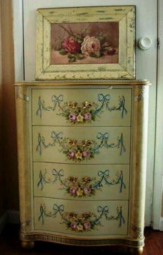 Painted and distressed dresser