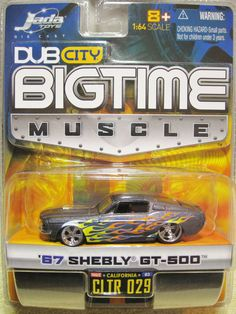 "JADA TOYS ""BIGTIME MUSCLE""1967 '67 SHELBY GT-500 VERY NICE 1/64 Gt 500, Jada Toys, Shelby Gt, Metal Toys, Hot Wheels Cars, Ford Motor Company, Drag Racing, Big Kids, Cool Cars"