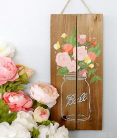Pallet Mason Jar Sign - have a painting party