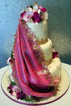 saree cake
