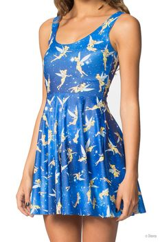 Tinkerbell Scoop Skater Dress (WW $95AUD / US $90USD) by Black Milk Clothing