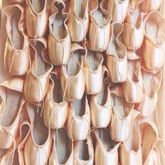 The sun is shining and so is our Bloch pointe shoe waterfall in our London…