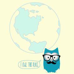 I Owl this place – NUNU BABA, plakaty na ścianę, dla dzieci