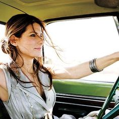Sandra Bullock. She seems like one of those down-to-earth, sincerely friendly type of people.