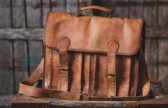Leather Briefcase, Leather Messenger Bag, Laptop Bag, Leather Handbag. | TheHumanEra - on ArtFire