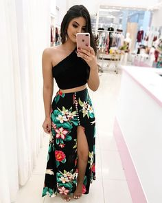 New Dress Long Summer Maxi Crop Tops Ideas Cute Casual Outfits, Sexy Outfits, Casual Dresses, Fashion Dresses, Summer Dresses, Summer Maxi, Summer Outfits, Luau Outfits, Skirt Outfits