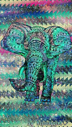 Elephant tribal galaxy wallpaper I created for the app CocoPPa
