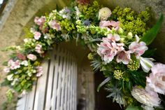 Flower church arch, North Marden