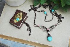 mini Book nekclace by twistedjewelry.deviantart.com on @deviantART
