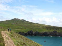 Walking at St Davids Head.