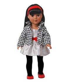 Take a look at this Black-Haired Silver Dress Doll by Dollie & Me on #zulily today!