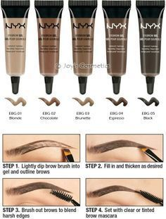 NYX Eyebrow Gel is my favorite brow product imho it's better than ABH dipbrow. Makeup 101, Eyebrow Makeup Tips, Drugstore Makeup, Makeup Goals, Love Makeup, Makeup Inspo, Makeup Eyebrows, Best Eyebrow Products Drugstore, Makeup Ideas