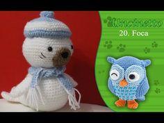 Uncinetto amigurumi 20: Foca - YouTube Crochet Videos, Crochet For Kids, Crochet Crafts, Cross Stitch Patterns, Make It Yourself, Christmas Ornaments, Youtube, Knitting, Holiday Decor