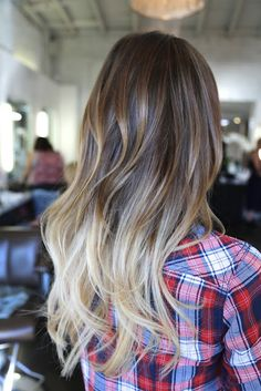 ombre highlights i want to go this blonde at the ends of my hair <3
