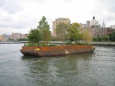 Did any of you New Yorkers see this?  I went down to Manhattan's waterfront a couple times to try to catch Smithson's Floating Island, and both times it eluded me (I think the schedule wasn't as regular as I thought).  Anyways, I really missed out, because