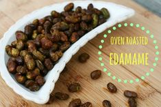 Repin to save: Oven roasted edamame. A budget friendly appetizer or snack recipe.