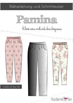 """Papierschnittmuster - """"Pamina"""" - Hose - Fadenkäfer - Schnittmuster für eine Hose für Damen"""