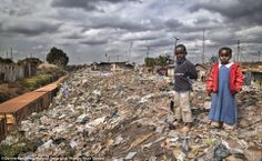 Kibera is located just outside of Nairobi and is the largest slum in Africa with over a million people. It is built on piles and piles of garbage which is painfully obvious while walking the streets. Location: Kibera, Nairobi
