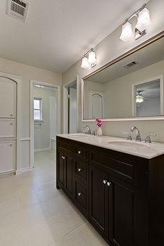 Renovation #3 - jack 'n jill bathroom with black vanity