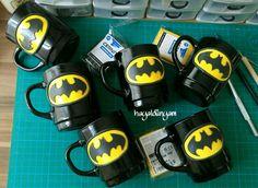 Polymerclay batman mug, Polimerkil batman kupalar, Elyapimi kişiye özel hediyelikler,