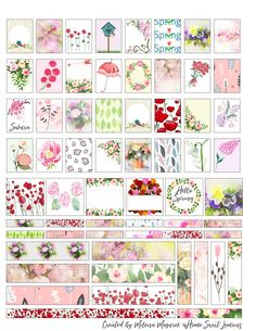 Grab your free printable- spring stickers for the Mini planners. Add some spring spirit in your planner or anywhere you wish. To Do Planner, Mini Happy Planner, Free Planner, Planner Ideas, Journal Stickers, Journal Cards, Printable Planner Stickers, Stickers For Planners, Project Life