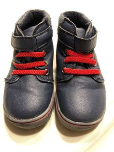 dc0634f9378 Garanimals Baby Boys Toddler Mid Cut Ankle Boot Navy   Red Size 6  fashion