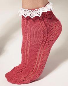 ASOS Lace Trim Pelerine Sock....LOVE