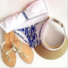White gold leather summer sandals