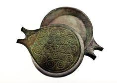 Bronze Vessel, Ancient Greek Cycladic Frying Pan, Metal Art Sculpture Paperweight, Museum Quality Art, Collectible Art, Desk Top Decor