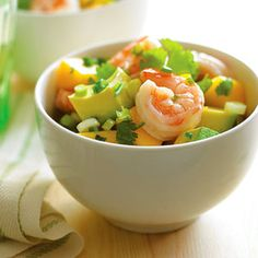 No-Cook Summer Salads Mango, Avocado, Shrimp Salad Shrimp Avocado Salad, Shrimp Salad Recipes, Shrimp Recipes Easy, Seafood Recipes, Prawn Salad, Mango Avocado Salad, Sushi Salad, Tuna Salad, Easy Recipes